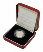 2005 Silver Proof Piedfort One Pound